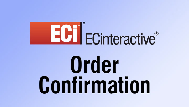 Order Confirmation with ECinteractive Web Stores