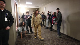 Protesters occupy Enbridge offices in downtown Duluth