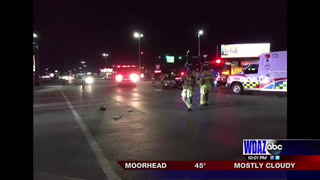 Car vs. motorcycle at Fargo intersection
