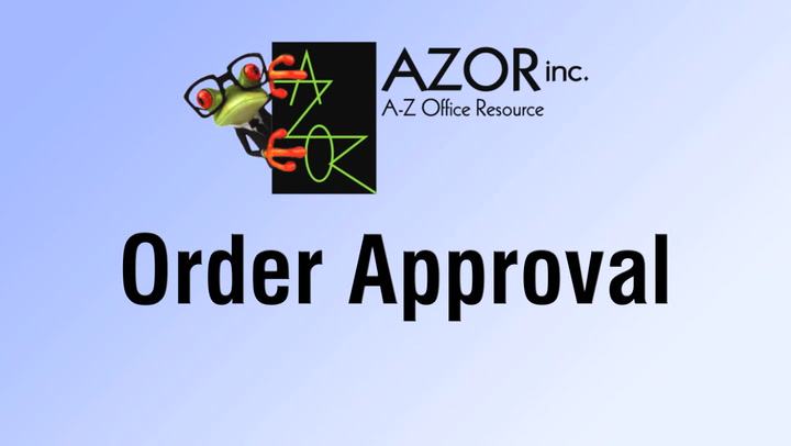 Order Approval with shop.AZORinc.com