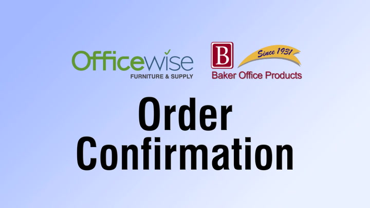 Order Confirmation for shop.BakerOfficeProducts.com