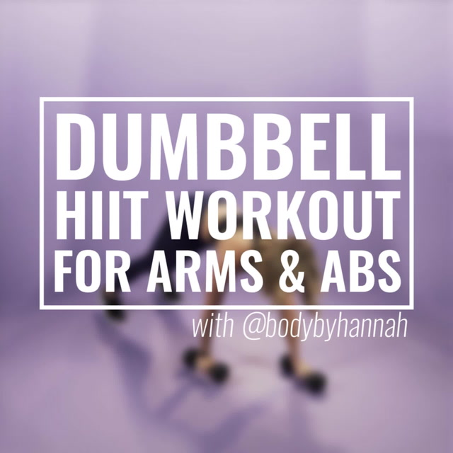 Dumbbell HIIT Workout for Arms and Abs