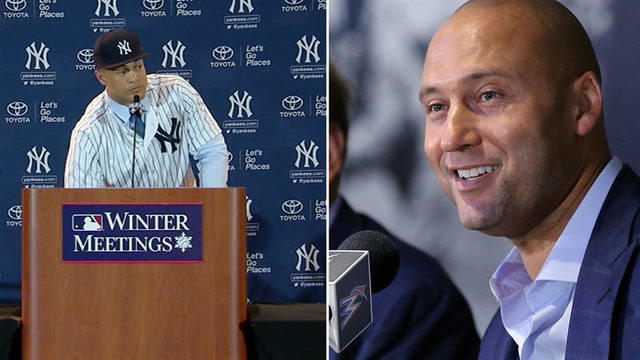 What did Giancarlo Stanton & Derek Jeter talk about before the trade?