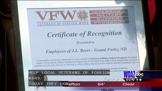 JL Beers employees donate to local VFW