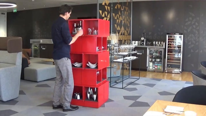 Watch This Cocktail Cabinet Spin Open Like A Magic Trick