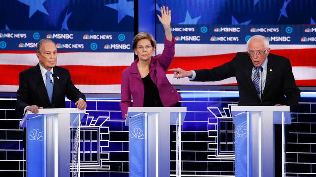 Democratic candidates hammer Mike Bloomberg at Nevada debate