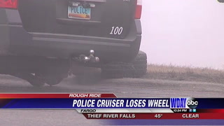 Fargo Police Vehicle Loses Tire