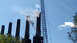 Smoke stacks on UMore property demolished