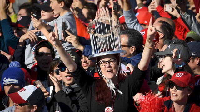 'It's just perfect': Nats fans line the streets to celebrate World Series victory
