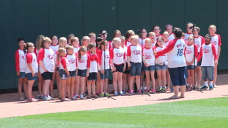 Mitchell Area Children's Choir at Twins game