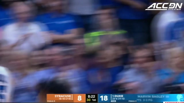 Marvin Bagley Dunks Half-Court Alley-Oop From Grayson Allen vs. Syracuse