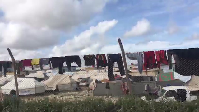 Watch: Drive by of Syria's al-Hol shows scope of displacement camp