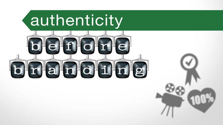 Authenticity before branding in business video