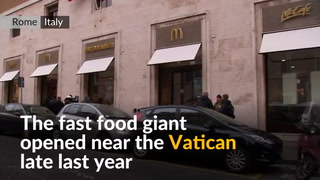 After Vatican controversy, McDonald's feeds homeless in Rome