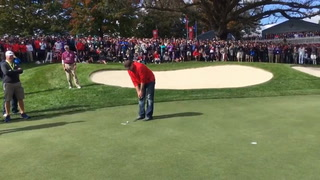 Mayville's David Johnson heckles Ryder Cup golfers, wins $100 bet by sinking putt