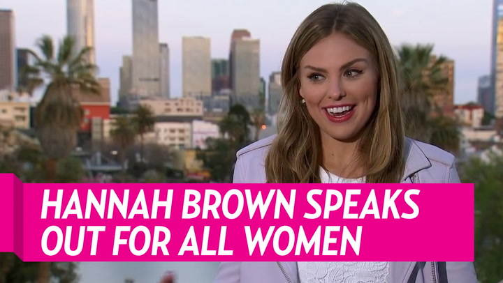 Hannah Brown Explains How She Combats Being Pitted Against Other Women