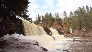 Roaring waters deafen Gooseberry Falls State Park