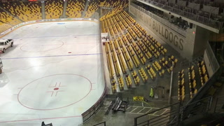 Ice removal at Amsoil Arena