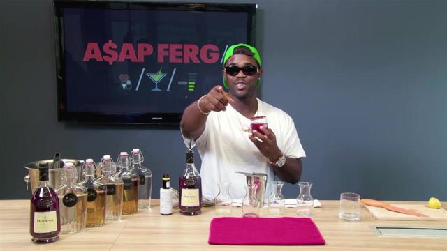ASAP Ferg Makes His Sweet and Spicy Cognac Drink: Behind the Bar