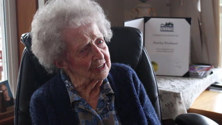 Martha Westlund, 102, talks about her long life in the Northland, which includes memories of her mother hurriedly packing to possibly flee the devastating wildfires of 1918. A change in the wind spared the family's home from the blaze. Steve Kuchera / skuchera@duluthnews.com