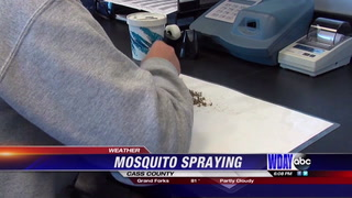 Due to weather mosquito spraying has been difficult