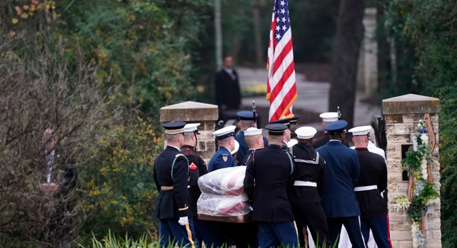 Final resting place: George H.W. Bush burial ceremony in College Station, Tex.