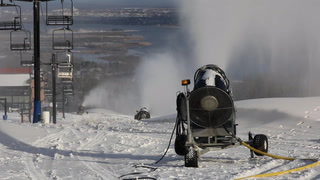 Snowmaking at Spirit Mountain in Duluth
