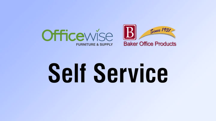 Self-Service on shop.BakerOfficeProducts.com