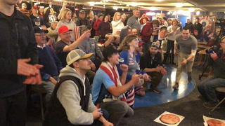 Duluth Curling Club crowd cheers as Team Shuster wins gold