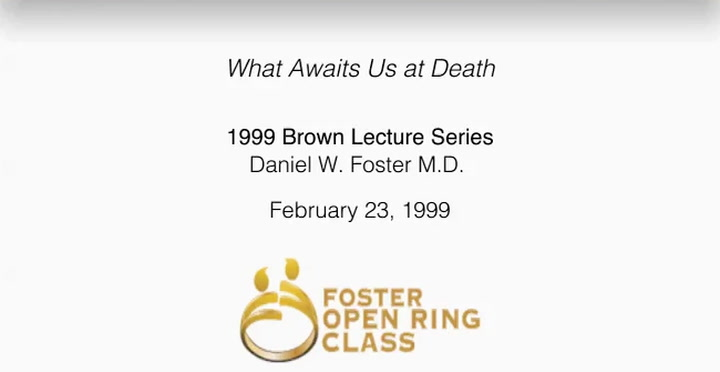 What Awaits Us at Death: 1999 Brown Lecture Series | First Presbyterian Church Dallas, TX