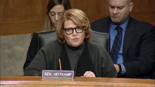 U.S. Sen. Heidi Heitkamp, D-N.D., attends a hearing Tuesday, Jan. 10, 2017, to discuss the role of Backpage.com in facilitating sex trafficking. Photo courtesy of Heitkamp's office