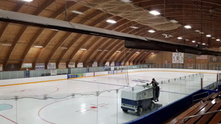Hastings Civic Arena ice to turf