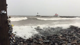 First winter storm stirs up Lake Superior