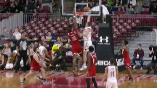 Boston College's Nik Popovic Drives and Throws Down the Jam