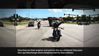 About 150 members of 701 Cycles took a somber 165-mile trip from Fargo to Blackduck, Minn., on May 5 for Tanner Beighley's funeral. The group served as honorary pallbearers at the service. Two videos of the procession went viral and were viewed on social media nearly 80,000 times. Photo courtesy of Justin Ruth