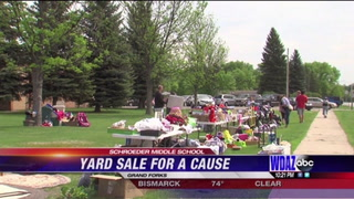 Grand Forks students hold yard sale to raise money for students across seas