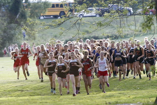 Top finishers at girls cross country opener