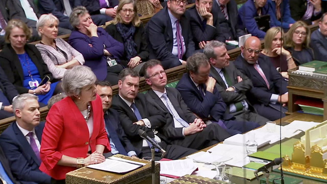 As Parliament rejects Brexit deal, May says 'unenviable' choices must be faced