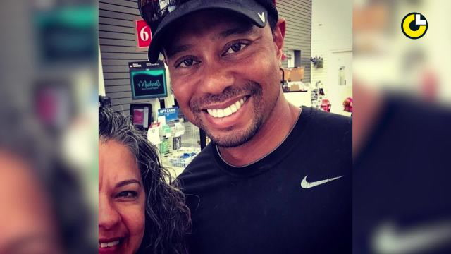 Tiger Woods was spotted where?!