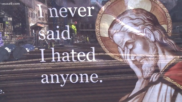 'Face-palm Jesus' ads go up in D.C. with a message for President Trump