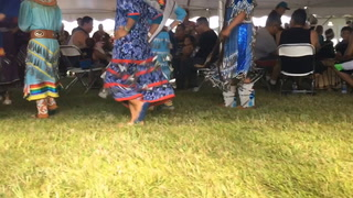 Alexis Desjarlait, of Red Lake, dances during the grand entry Thursday at the healing powwow at the Sanford Bemidji Medical Center.(Maggi Stivers | Bemidji Pioneer)