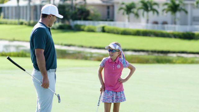 Watch a 10-year-old girl humble Brooks Koepka in golf challenge