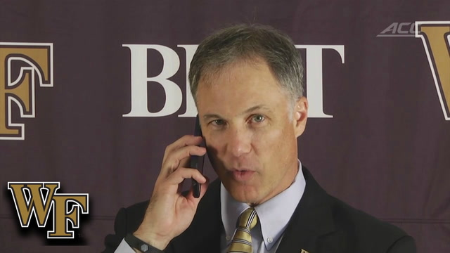 Wake Forest Head Coach Dave Clawson Answers Reporter's Phone