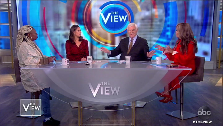 'The View': Newt Gingrich and Whoopi Goldberg Go at It Over Trump's 'Lynching' Comments