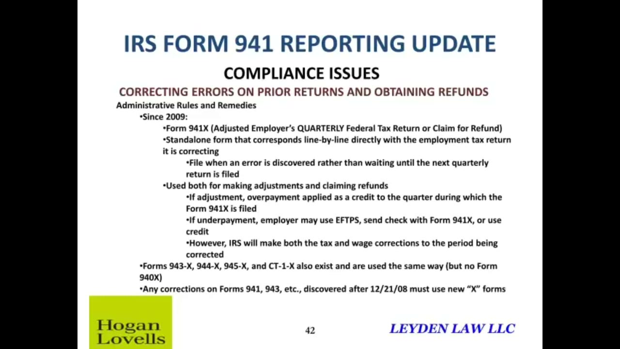 Compliance Issues - IRS Form 941 — Video | Lorman Education Services