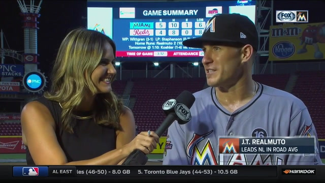 J.T. Realmuto on weather delay, two-homer game