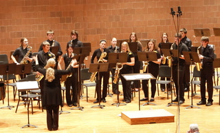 Morris Area's Saxophone Choir performs in year finale