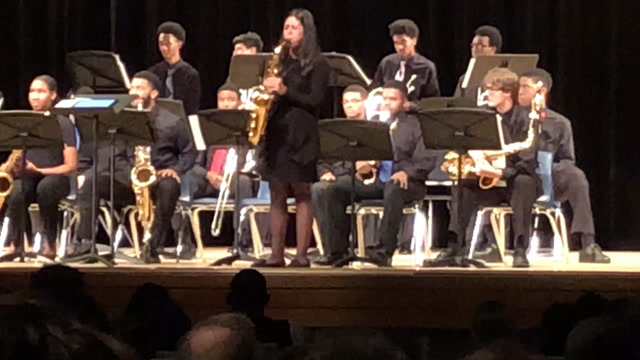 There's a story behind this student's saxophone solo