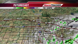 Tuesday Afternoon: Cloudy, Isolated Showers