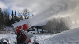 Buena Vista Ski Area began making snow within the past week and will officially open for the season this weekend. (Jillian Gandsey | Bemidji Pioneer)